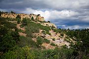 Afternoon clouds roll in over Palmer Park, Colorado Springs, Colorado