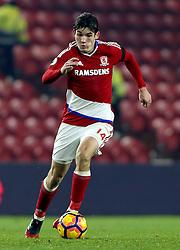 Marten de Roon of Middlesbrough runs with the ball - Mandatory by-line: Robbie Stephenson/JMP - 05/12/2016 - FOOTBALL - Riverside Stadium - Middlesbrough, England - Middlesbrough v Hull City - Premier League