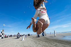 Flag Girl. Wildwood, NJ. 2015<br /> <br /> Limited Edition Print from an edition of 20. Photo ©2015 Michael Lichter.