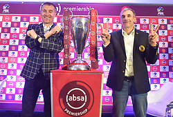 South Africa: Johannesburg: Orlando Pirates coach Milutin Sredojevic and Kaizer Chiefs coach Giovanni Solinas, poses photographs at the PLS officers in Parktown, after addressing members of the media on the much anticipated Soweto Derby on Saturday when Orlando Pirates host rivals Kaizer Chiefs for Absa Premiership match at FNB Stadium.<br />Picture: Itumeleng English/African News Agency (ANA)<br />089<br />24.10.2018