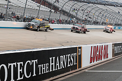 October 5, 2018 - Dover, DE, U.S. - DOVER, DE - OCTOBER 05: Jet dryers work to keep the track ready for qualifying for the Monster Energy NASCAR Cup Series Gander Outdoors 400 on October 05, 2018, at Dover International Speedway in Dover, DE. Qualifying was canceled after approximately a 40 minute delay. (Photo by David Hahn/Icon Sportswire) (Credit Image: © David Hahn/Icon SMI via ZUMA Press)