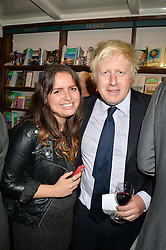 BORIS JOHNSON and  at a party to celebrate the publication of Stanley I Resume by Stanley Johnson at the Daunt Bookshop, Marylebone High Street, London on 23rd September 2014.