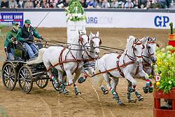 GÖTEBORG - Gothenburg Horse Show FEI World Cup 2009<br /> <br /> DOBROVITZ Jozsef<br /> FEI World Cup Viererzug Fahren Qualifikation<br /> <br /> Göteborg, Scandinavium<br /> 21. February 2009<br /> © www.sportfotos-lafrentz.de/Stefan Lafrentz