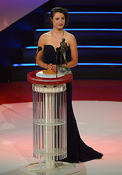17-12-2013 ALGEMEEN: SPORTGALA NOC NSF 2013: AMSTERDAM<br /> In de Amsterdamse RAI vindt het traditionele NOC NSF Sportgala weer plaats. Winnaar Marianne Vos is een Nederlandse veldrijdster en wielrenster, tweevoudig olympisch kampioene en twaalfvoudig wereldkampioene <br /> ©2013-FotoHoogendoorn.nl