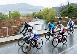 Riders in Koroska region in Prevalje during 4th Stage from Prevalje to Dobrovnik, 190 km at Day 4 of DOS 2021 Charity event - Dobrodelno okrog Slovenije, on April 30, 2021, in Slovenia. Photo by Vid Ponikvar / Sportida