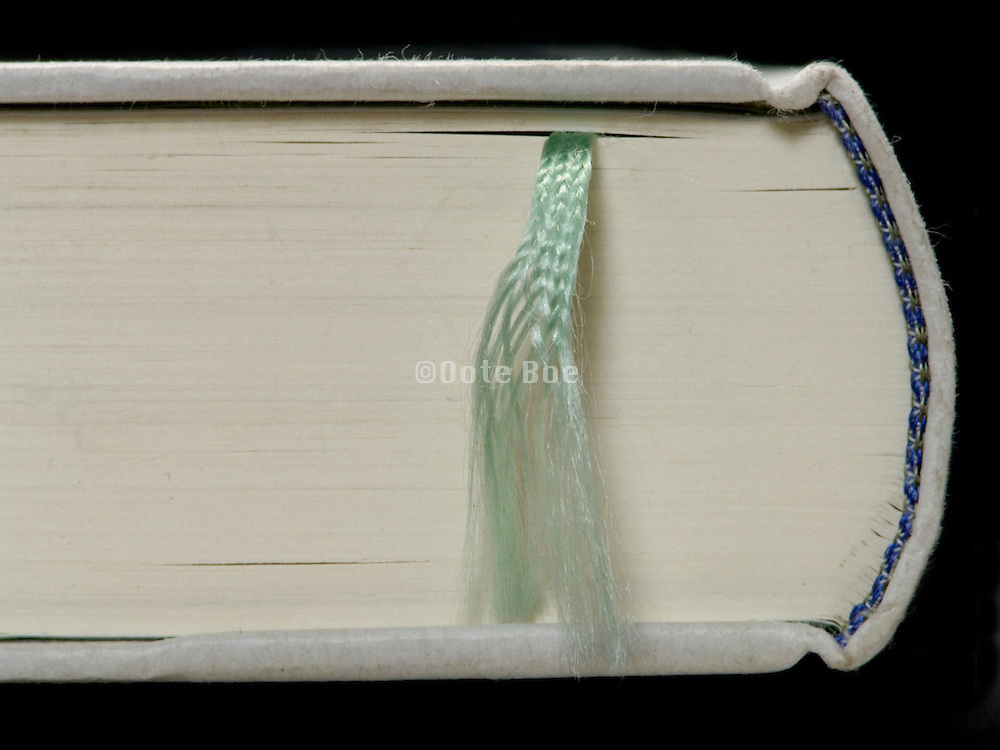 closed book with a book mark