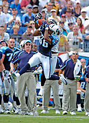 September 18, 2005, Nashville, Tennessee, USA;  Defensive Back Michael Waddell(36) of the Tennessee Titans, and Receiver Derrick Mason(85) of the Baltimore Ravens battle for possession of a pass intended for Mason.   The Titans defeated the Ravens 25-10.