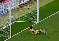 Photo: Glyn Thomas.<br />Italy v France. FIFA World Cup 2006 Final. 09/07/2006.<br /> Italy's Gianluigi Buffon watches a chipped penalty from Zinedine Zidane go in.