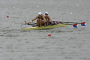 Eton, GREAT BRITAIN, USA W2X, Bow,  Brett SICKLER and Susan FRANCIA,   move  away from the start.  2006 World Rowing Championships, 20/08/2006.  Photo  Peter Spurrier, © Intersport Images,  Tel +44 [0] 7973 819 551,  email images@intersport-images.com , Rowing Courses, Dorney Lake, Eton. ENGLAND