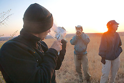 Earthwatch Team Checking Small Mammal Traps