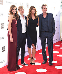 Guests arrive at the 3rd Annual Fashion LA Awards in Hollywood, California. 02 Apr 2017 Pictured: Kaia Gerber, Presley Gerber, Cindy Crawford and Rande Gerber. Photo credit: MEGA TheMegaAgency.com +1 888 505 6342