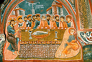 TURKEY, CAPPADOCIA Karanlik Kilise; the last supper