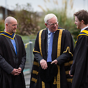 18.11.2016       <br /> Speaking at conferring ceremonies in Thurles, the President of Limerick Institute of Technology (LIT) has welcomed the publication of the Financial Review of the Institutes of Technology and called for the immediate implementation of actions to support the Technological Education sector. <br /> <br /> Attending the Conferring ceremonies at LIT Thurles campus were Prof. Vincent Cunnane, President LIT (centre) with father and son graduates, Matt and Adam Joy. Matt Conferred with a BSc (Hons) in Environmental and Natural Resource Management and Adam conferred with a MSc in Sports Strength and Conditioning. Picture: Alan Place