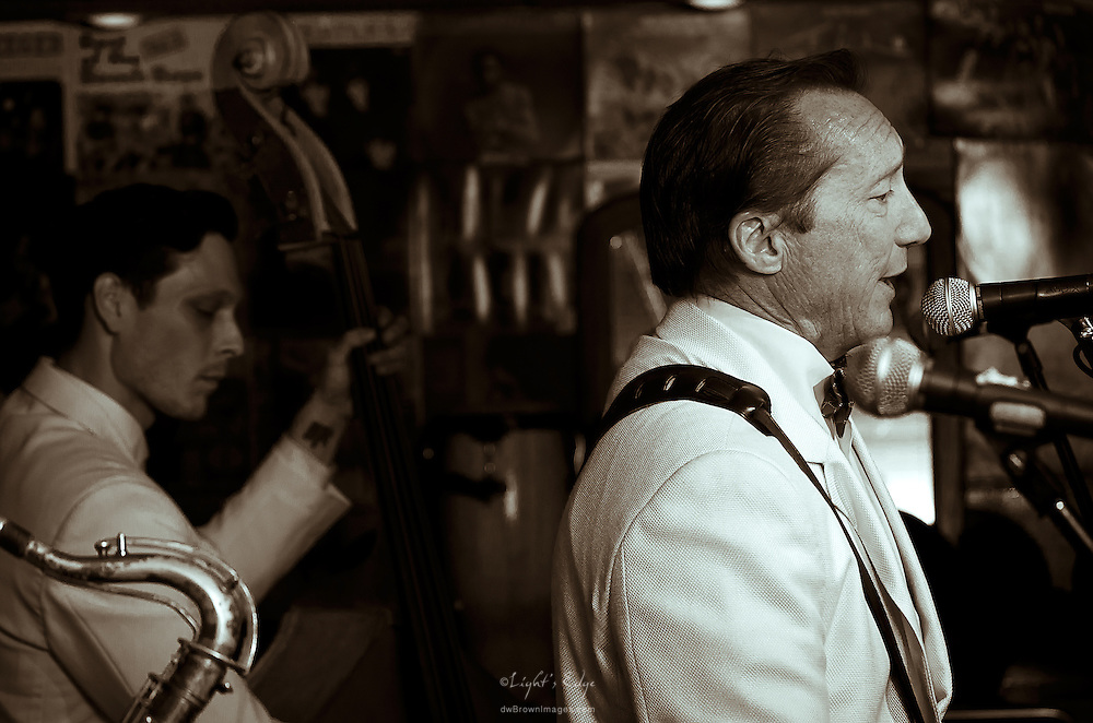 Bill Haley Jr. performing with The Comets at The Bus Stop Music Cafe in Pitman, NJ.