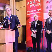 Speaker Alderman William Russell and H.E. LIU Xiaoming at China-UK United We Stand together to fights the #Covid19 at Guildhall, on 28th February 2020, London, UK.