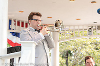 A concert of big band tunes on a Summer Sunday evening from Dan Gabel & The Abletones with special guest vocalist, Sarah Gardner on the Norwood Town Common on July 14, 2019.