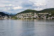 Port and town of Harstad, Hinnoya island, Troms county, Norway