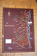 Map. Restaurant La Maison des Beaujolais. Beaujolais, Burgundy, France