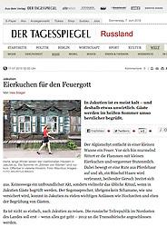 Der Tagesspiegel newspaper Germany; Old houses in Irkutsk Russia