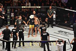 September 23, 2018 - SãO Paulo, Brazil - SÃO PAULO, SP - 23.09.2018: UFC FIGHT NIGHT MARRETA X ANDERS - Alex Cowboy Oliveira (BRA) X Carlo Pedersoli (ITA) UFC Fight Night Marreta X Anders, this Saturday, (22) in São Paulo. (Credit Image: © Roberto Casimiro/Fotoarena via ZUMA Press)