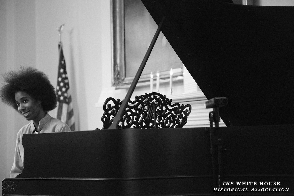 Janelle Gill performed works in a tribute to the late and beloved Marian McPartland for the last installment in this season's Piano in the White House. (Photo by Matthew Paul D'Agostino / WHHA)