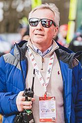 16.02.2020, Kulm, Bad Mitterndorf, AUT, FIS Ski Flug Weltcup, Kulm, Herren, Siegerehrung, im Bild FIS Renndirektor Walter Hofer // FIS Racedirector Walter Hofer during the winner ceremony for the men's FIS Ski Flying World Cup at the Kulm in Bad Mitterndorf, Austria on 2020/02/16. EXPA Pictures © 2020, PhotoCredit: EXPA/ JFK