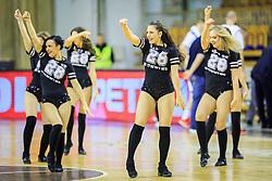 Cheerleaders Zmajcice during basketball match between KK Petrol Olimpija Ljubljana and Rosa Radom in Regular Season of Basketball Champions League 2017/18, on December 5, 2017 in Hala Tivoli, Ljubljana, Slovenia. Photo by Ziga Zupan / Sportida