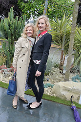 Left to right, JO MILLER and her daughter SAVANNAH MILLER at the 2015 RHS Chelsea Flower Show at the Royal Hospital Chelsea, London on 18th May 2015.