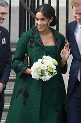 © Licensed to London News Pictures. 11/03/2019. London, UK. Meghan Duchess of Sussex attend an event at Canada House to mark Commonwealth Day. Photo credit Ray Tang/LNP