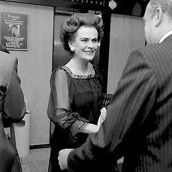 3 October 1978 - Margaret, Duchess of Argyll at a fashion show in London.<br /> <br /> Photo by Desmond O'Neill Features Ltd.  +44(0)1306 731608  www.donfeatures.com