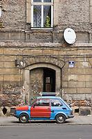 Old building and car in Kazimierz Krakow Poland