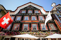 A day photo of the Restaurant and Hotel Taube/Gasthaus Taube, Appenzell, Switzerland.