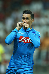 August 22, 2017 - Nice, France - Jose Maria Callejon of Napoli celebration  during the UEFA Champions League Qualifying Play-Offs round, second leg match, between OGC Nice and SSC Napoli at Allianz Riviera Stadium on August 22, 2017 in Nice, France. (Credit Image: © Matteo Ciambelli/NurPhoto via ZUMA Press)