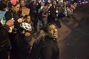 """Protestas por la desaparición forzada de 43 estudiantes de la Escuela Normal Rural """"Raúl Isidro Burgos"""" ocurrida el 26 de septiembre de 2014. <br /> Procuraduría General de la República, 7 de noviembre de 2014. (Foto: Prometeo Lucero)"""