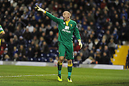 Norwich city goalkeeper John Ruddy in action.Barclays Premier league, West Bromwich Albion v Norwich city at the Hawthorns in West Bromwich, England on Sat 7th Dec 2013. pic by Andrew Orchard, Andrew Orchard sports photography.