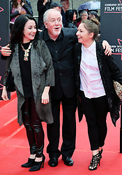 """Edinburgh International Film Festival, Sunday 26th June 2016<br /> <br /> Stars turn up on the closing night gala red carpet for the World Premiere of """"Whisky Galore!""""  at the Edinburgh International Film Festival 2016<br /> <br /> Composer Patrick Doyle with his daughters Abigail (dark hair) and Nuala (blonde)<br /> <br /> (c) Alex Todd   Edinburgh Elite media"""