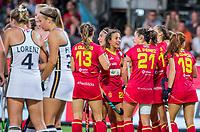 ANTWERPEN -  Vreugde bij Spanje nadat het op 1-0 is gekomen tijdens halve finale vrouwen, Spanje-Duitsland ,  bij het Europees kampioenschap hockey. COPYRIGHT KOEN SUYK