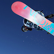 Yuki Furihata, Japan, in action during the Women's Halfpipe competition at the Burton New Zealand Open 2011 held at Cardrona Alpine Resort, Wanaka, New Zealand, 10th August 2011. Photo Tim Clayton