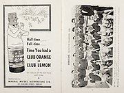 All Ireland Senior Hurling Championship Final, .Brochures, .23.09.1956, 09.23.1956, 23rd September 1956,.Wexford 2-14, Cork 2-8,.Minor Kilkenny v Tipperary, .Senior Cork v Wexford,.Croke Park,..Advertisements, Club Orange or Club Lemon Mineral Waters Distributors,