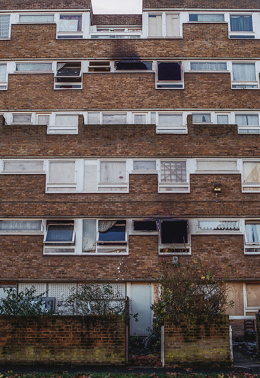 Hordle Promenade, North Peckham Estate, London, UK. The estate where Damilola Taylor was killed. 27th November 2000.