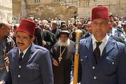 Israel, Jerusalem Old City, pilgrims procession, Good Friday at the Via Dolorosa,  Easter 2006