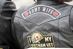 May 29, 2017 - Philadelphia, Pennsylvania, U.S - Proud Army wife at the Philadelphia Vietnam Veterans Memorial Monument in Philadelphia on Memorial Day 2017 (Credit Image: © Ricky Fitchett via ZUMA Wire)