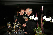 VICTORIA HOPPER AND DENNIS HOPPER, Party hosted by Larry Gagosian at Nobu, Berkeley St. London. 9 October 2007. -DO NOT ARCHIVE-© Copyright Photograph by Dafydd Jones. 248 Clapham Rd. London SW9 0PZ. Tel 0207 820 0771. www.dafjones.com.
