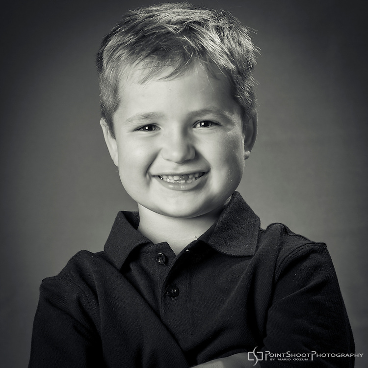6 year-old male child by Stevensville, MD photographer, PointShoot Photography