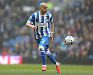 Bruno Saltor, Brighton defender during the Sky Bet Championship match between Brighton and Hove Albion and Norwich City at the American Express Community Stadium, Brighton and Hove, England on 3 April 2015.