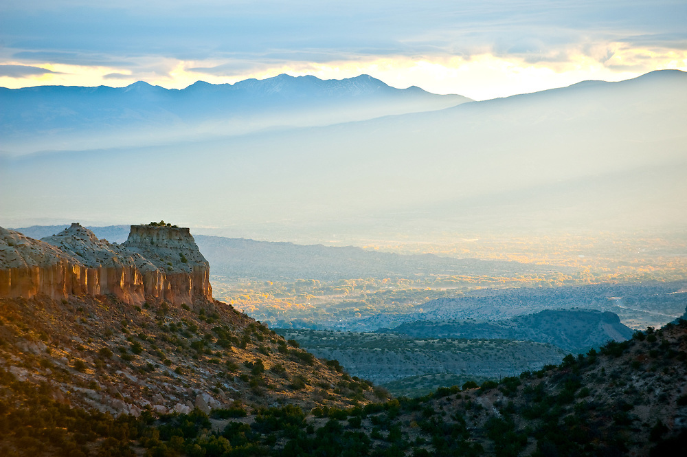 Sunrise from Anderson Overlook, Los Alamos, New Mexico