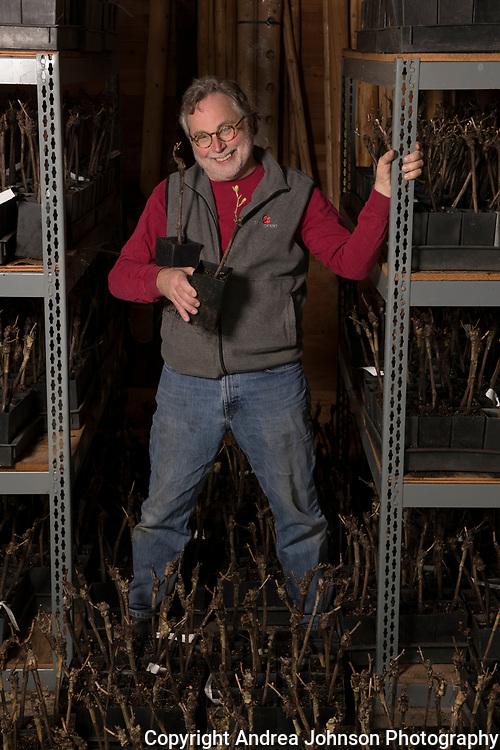 Mark Vlossak at new  vineyard & winery site, Willamette Valley, Oregon