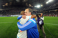 Andre AYEW / Marcelo BIELSA - 23.05.2015 - Marseille / Bastia - 38e journee Ligue 1<br />Photo : Gaston Petrelli / Icon Sport