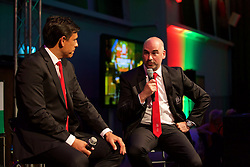 CARDIFF, WALES - Wednesday, June 1, 2016: Wales' manager Chris Coleman and performance psychologist Ian Mitchall during charity send-off gala dinner at the Vale Resort Hotel ahead of the UEFA Euro 2016. (Pic by David Rawcliffe/Propaganda)