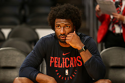 February 27, 2019 - Los Angeles, CA, U.S. - LOS ANGELES, CA - FEBRUARY 27: New Orleans Pelicans Forward Solomon Hill (44) before the New Orleans Pelicans versus Los Angeles Lakers game on February 27, 2019, at Staples Center in Los Angeles, CA. (Photo by Icon Sportswire) (Credit Image: © Icon Sportswire/Icon SMI via ZUMA Press)